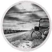 Bicycle Break Round Beach Towel
