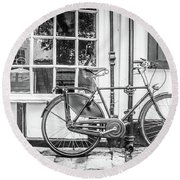 Bicycle. Round Beach Towel