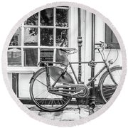 Bicycle. Round Beach Towel