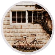Bicycle Round Beach Towel by Julie Hamilton