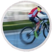 Bicycle Race Round Beach Towel