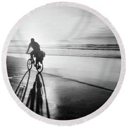 Bicycles Are For The Summer Round Beach Towel
