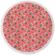 Bicycles Round Beach Towel by Sholto Drumlanrig