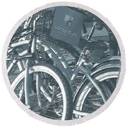 Bicycles Round Beach Towel