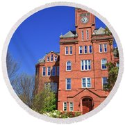 Biddle Hall In The Spring Round Beach Towel