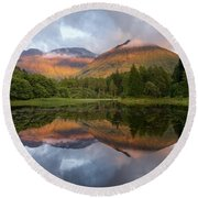 Bidean Nam Bian At Sunset Round Beach Towel