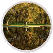 Bidwell Park Reflections Round Beach Towel
