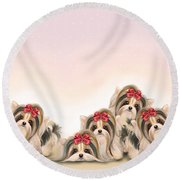 Biewer Pack Round Beach Towel