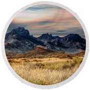 Big Bend Hill Tops Round Beach Towel