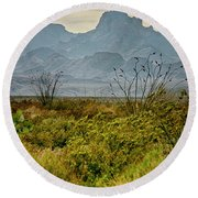 Big Bend Mountains Round Beach Towel