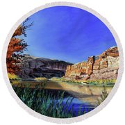 Big Bend On The Colorado Round Beach Towel