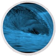Big Blue Wave Round Beach Towel by Brad Scott