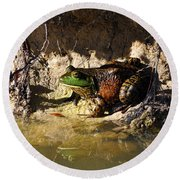 Round Beach Towel featuring the photograph Big Bud by Al Powell Photography USA