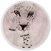 Big Cat Round Beach Towel