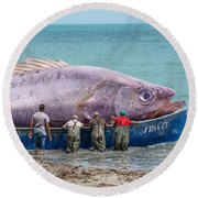 Big Catch Round Beach Towel