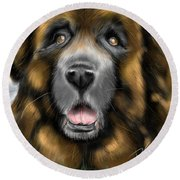 Big Dog Round Beach Towel