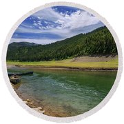 Big Elk Creek Round Beach Towel