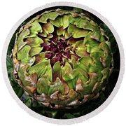 Big Fat Green Artichoke Round Beach Towel