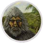 Big Foot In Pennsylvania Round Beach Towel