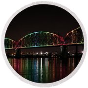 Big Four Bridge 2215 Round Beach Towel