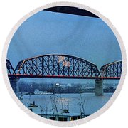 Big Four Bridge Round Beach Towel