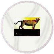 Big Game Africa - Leopard Round Beach Towel