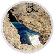 Big Hole  Round Beach Towel