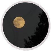 Big Leaf Moon Round Beach Towel