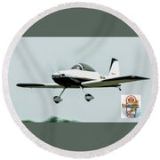 Big Muddy Air Race Number 44 Round Beach Towel