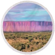 Big Pink Mesa Round Beach Towel