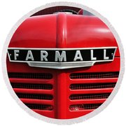 Big Red Farmall Round Beach Towel