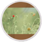 Big Red, Little Red Round Beach Towel