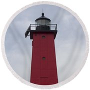Round Beach Towel featuring the photograph Big Red by Tara Lynn
