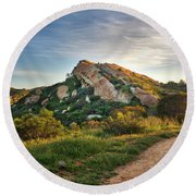 Big Rock Round Beach Towel by Endre Balogh
