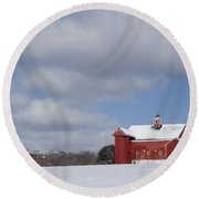 Big Sky Farm Round Beach Towel