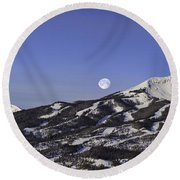 Big Sky Panorama Round Beach Towel