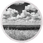 Round Beach Towel featuring the photograph Big Sky - Wisconsin  by Ricky L Jones