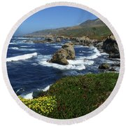 Big Sur 2 Round Beach Towel