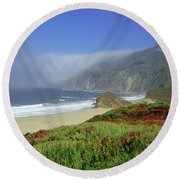 Big Sur 3 Round Beach Towel