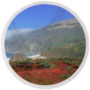 Big Sur 4 Round Beach Towel