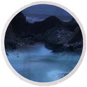 Round Beach Towel featuring the photograph Big Sur Night by Dustin LeFevre