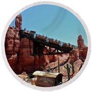 Big Thunder Mountain Walt Disney World Mp Round Beach Towel by Thomas Woolworth