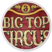 Big Top Circus Round Beach Towel