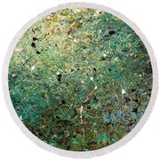 Round Beach Towel featuring the painting Big Universe - Abstract Art by Carmen Guedez