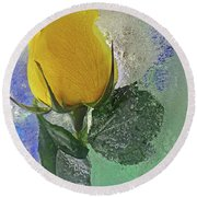 Round Beach Towel featuring the digital art Big Yellow by Terry Foster