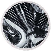 Bike Chrome Round Beach Towel