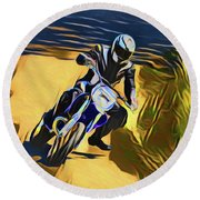 Biker 21018 Round Beach Towel