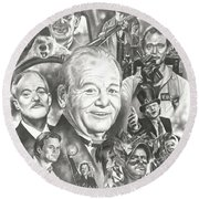 Bill Murray Round Beach Towel by James Rodgers