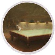 Billiard Match At Thurston Round Beach Towel