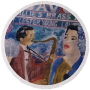 Billie's Brass Band Round Beach Towel